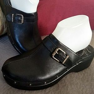 3/$100 abeo mules clogs black leather studded